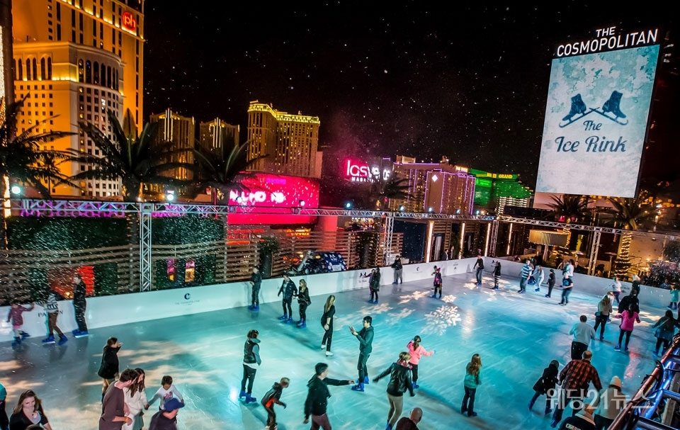 사진 : The Ice Rink at The Cosmopolitan of Las Vegas